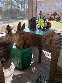 Staged items-all here - Garden Seat