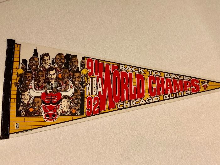 1992 Chicago Bull Champs pennant