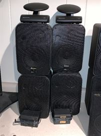 Set of Recotion wireless speakers