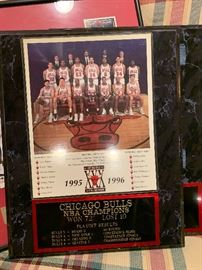 1995-96 Chicago Bulls Champion photo plaque