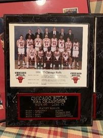 1996-97 Chicago Bulls Champion photo plaque