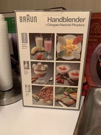 BrAun hand blender - new in box