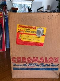 Vintage Chromaloc Deluxe  Electric Heater w/box