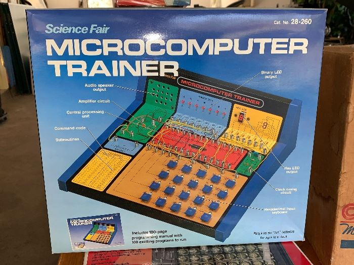 Vintage Science Fair Microcomputer Trainer in box