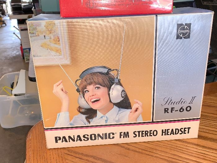 Panasonic FM Stereo Headset Studio 11 RF-60  in box - I showed this to my daughter, needless to say she laughed her head off