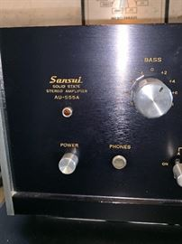 Sansui Stereo Amplifier AU-555A Solid State
