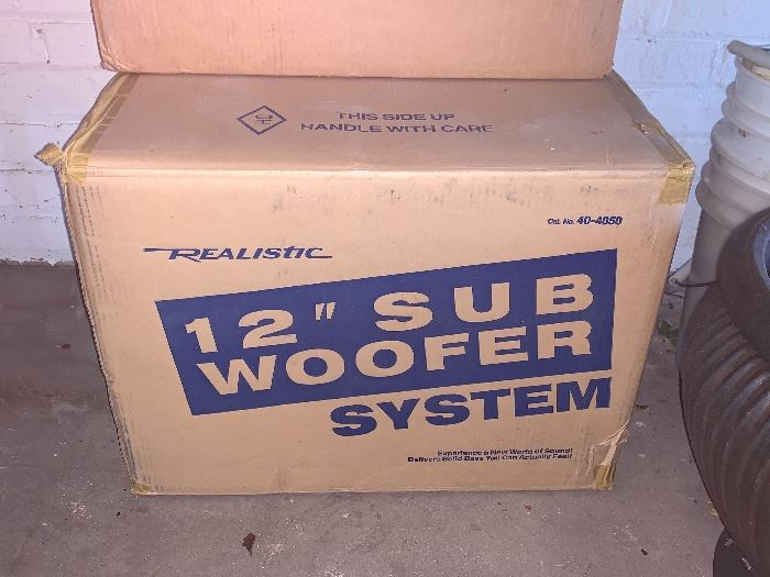 """12"""" Realistic Sub Woofer system  40-4050 - never opened"""