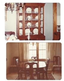 Harden dining set:Table 6 chairs and Hutch