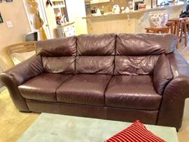 Beautiful leather sofa