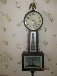 New Haven 8 day Banjo clock