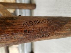 Company trademark on the OLD HICKORY arm chair from the historic Leeks Lodge in Jackson, Wyoming.