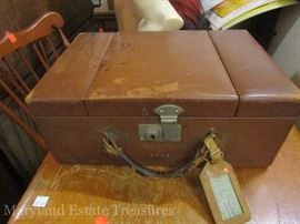 Antique Travel Makeup Case