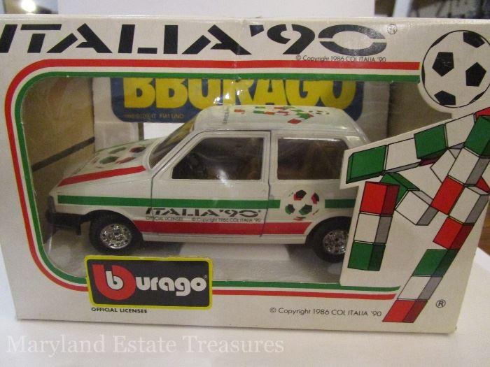 Fiat Uno Diecast Car celebrating 1990 World Cup