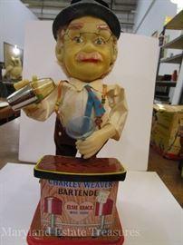 Vintage Charley Weaver Bartender Toy