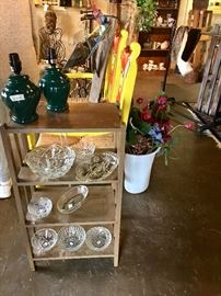 Lamps. Glassware