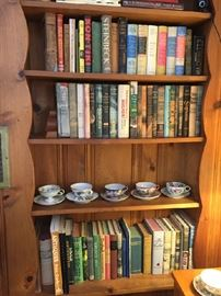 vintage books and tea cups/saucers