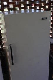 This freezer was working when it was put where it was.  upright,  gonna be priced to sell.