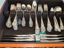 Large Sterling Silver Set, Old Master 103 pieces