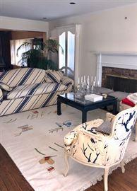 Vintage furniture, rug & coffee table