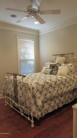 Beautiful vintage/antique iron bed. Well cared for through the years
