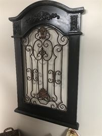 One of many pieces of decorative iron in the sale. Many pieces have a twin. All priced reasonable and separately