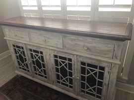 One of three faux finish vintage style servers. Great storage. Old world look. Sturdy and well made. As you will see in the photos, a great accent piece for any room in your home.