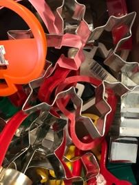 Loads of cookie cutters all shapes and sizes