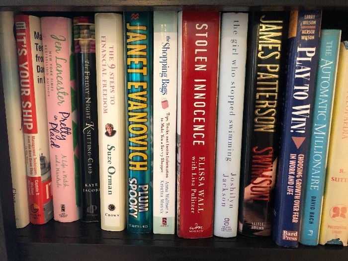 Contemporary novels. A lot of popular fiction writers
