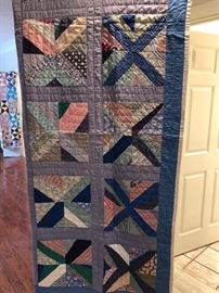 Beautiful hand pieced hand sewn vintage quilt