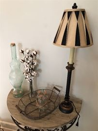 One of three stylish lamps