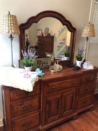 Very attractive well made contemporary dresser in the master bedroom