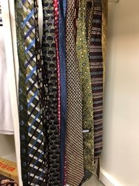 Silk tie collection. Many top designers