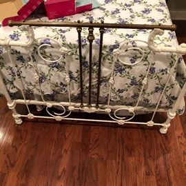 Love the footboard on this turn of the century beauty