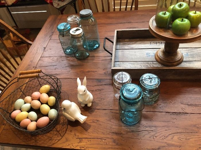 Beautiful antique/vintage Mason jars would be a great addition to any home.
