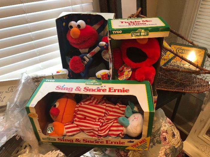 Sesame Street collectibles in original boxes. Never removed