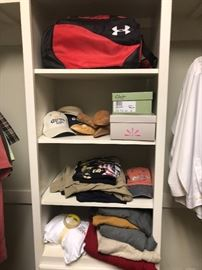 The master closet has lots of nice items