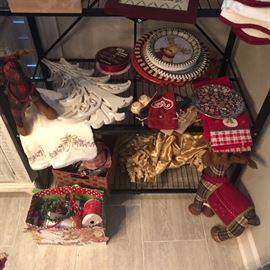 Christmas abounds. We are just beginning to unpack beautiful holiday items.
