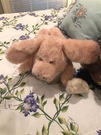 a soft fluffy piglet needs a home