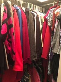 Very nice clothing. Gently worn. All seasons. several sizes. suits. jackets. blouses.  winter coats. sweaters. pants. silks and cottons and so much more. great buys on great brands
