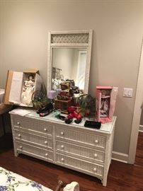 another view of the wicker and wood dresser.  this would be a nice addition to your summer home, your room or your daughters. sturdy and well made