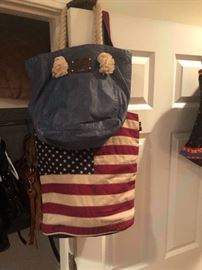 Tommy Hilfiger bag and a large all American tote