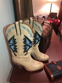 Cow girl butterfly boots