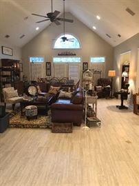 a group shot of the family room
