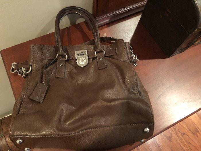 Michael Kors like new chocolate leather bag