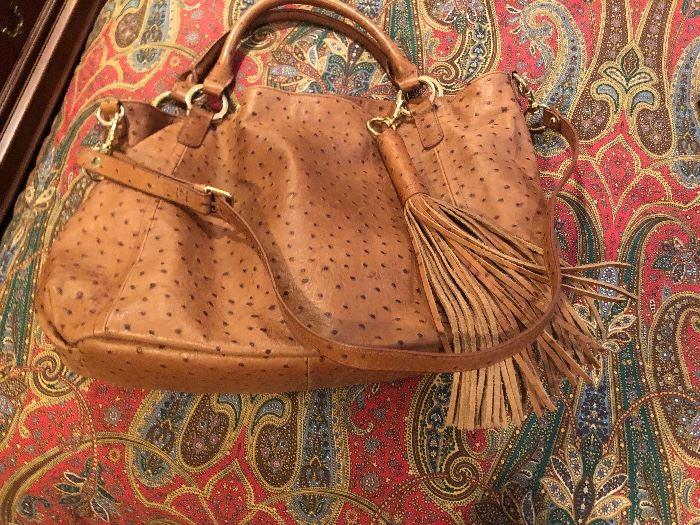 Hand tooled beautiful soft leather designer bag