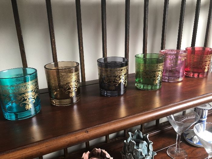 colorful and decorative bar ware