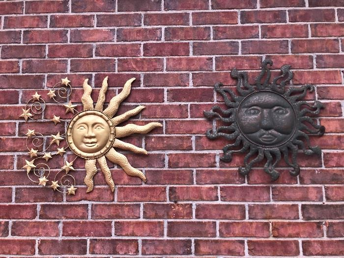 Sun dials. For the patio wall. Which one do you want?