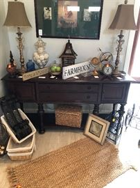 Great looking buffet used as an accent piece in the family room
