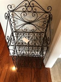 Heavy well made iron shelf that folds