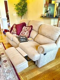 Great reclining sofa in neutral color